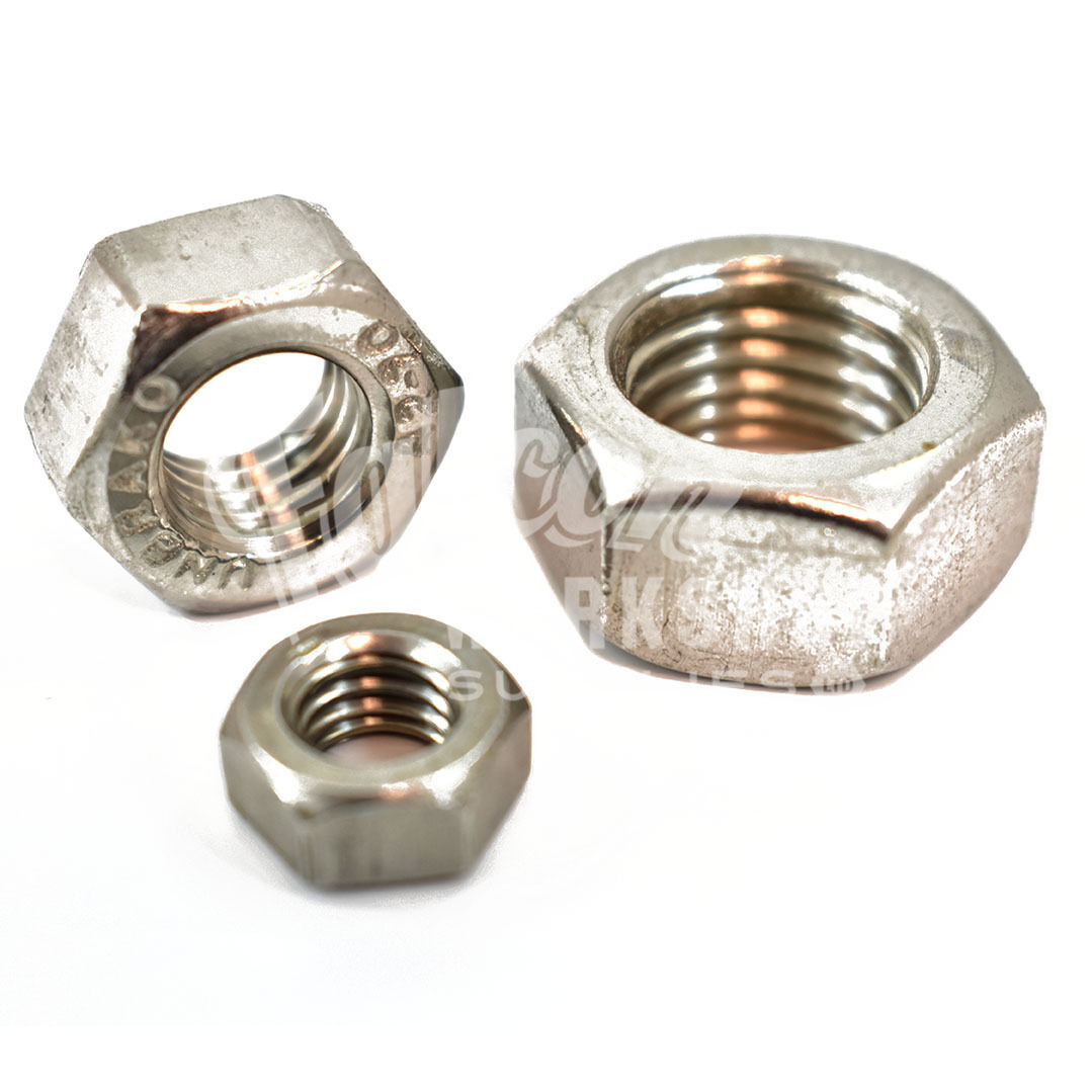 PACK OF 25 x M6 6mm A2 STAINLESS STEEL HEX FULL NUTS METRIC THREAD PITCH 1.0 *