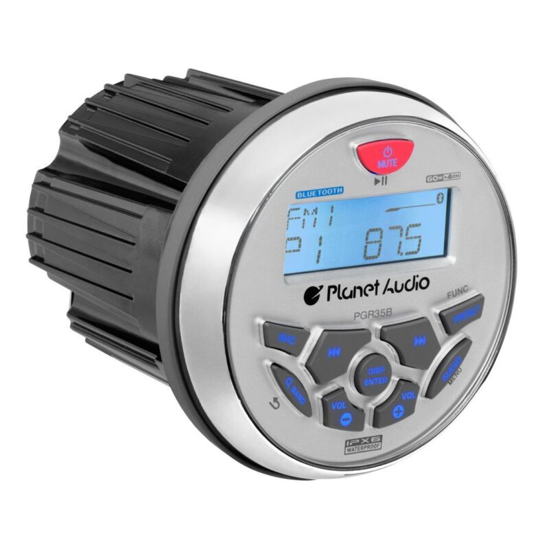 Planet Audio 3.5 Inch Marine MP3/Radio Bluetooth Boat Stereo Receiver | PGR35B