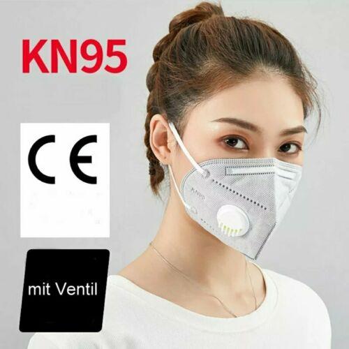 KN95 Maske FFP2 FFP3 Atemschutzmaske mit Ventil Lagerware