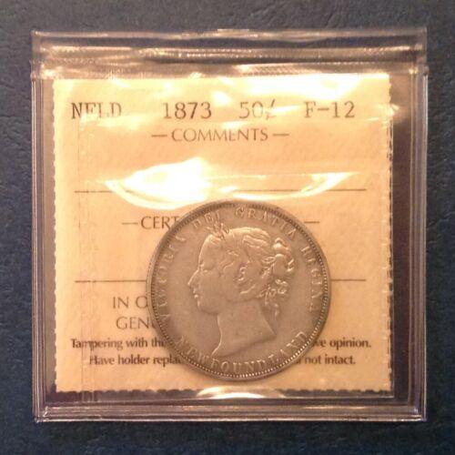 - Canada  Newfoundland  1873 50  Cents Victoria - ICCS Graded