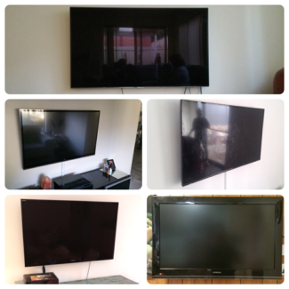 "TV Wall Bracket INSTALLED 32-65"" for any brand FLAT OR CURVED"