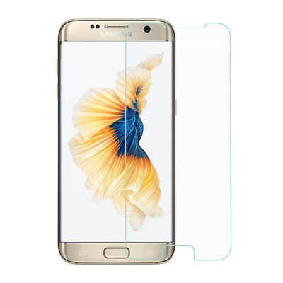 For Samsung Galaxy S7 Edge Clear Flat Tempered Glass Screen Cover (Not Curved)