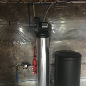 Water softener & filtration system installed
