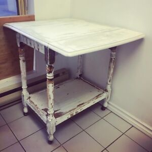 Shabby Chic Tea Trolley with Drop Leaf side Flaps