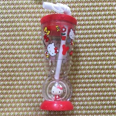 Hello Kitty Plastic Cup with Straw SANRIO New Kawaii Japan not for - Plastic Cups For Sale