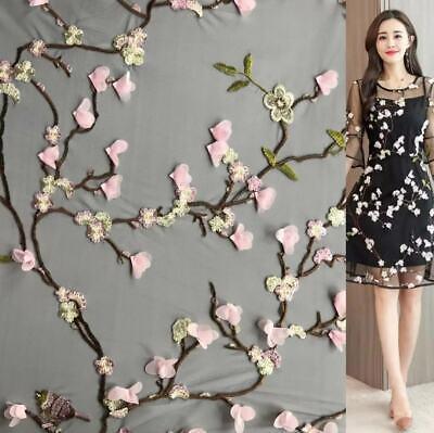3D Bestickt Chiffon Kostüm Kleid Spitze Tüll Blüte Braut Tanzend Stoff - Chiffon Spitze Kostüm