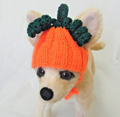 Pet Clothes Handmade Knit Outfit Halloween Pumpkin Hat  for Small Dog ](Dog Halloween Outfit)