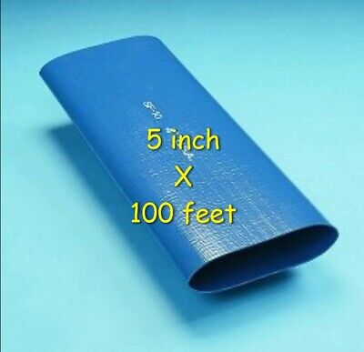 100 Ft. Roll Of 5 Inch Blue Pvc Lay Flat Water Discharge Hose Sf-10