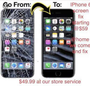 IPhone Lcd screen repair @ you home/office or our store