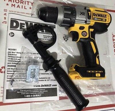 DEWALT DCD996B 20V MAX XR Lithium Ion Brushless 3-Speed Hammer Drill 2019 New