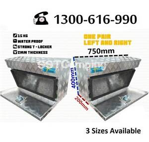 L750*W200*H400 Aluminium Under Tray SST Camping Toolbox Pair! Clayton Monash Area Preview