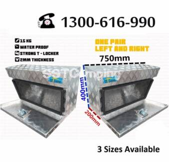 L750*W200*H400 Aluminium Under Tray SST Camping Toolbox Pair