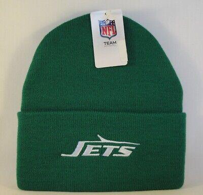 New York Jets NFL Cuffed Knit Hat Retro Logo