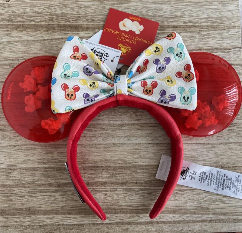 Disney Parks 2021 Scented Popcorn Balloon Loungefly Minnie Ears Headband NWT!