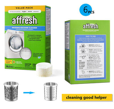 Affresh Washing Machine Cleaner, 6 Tablets White