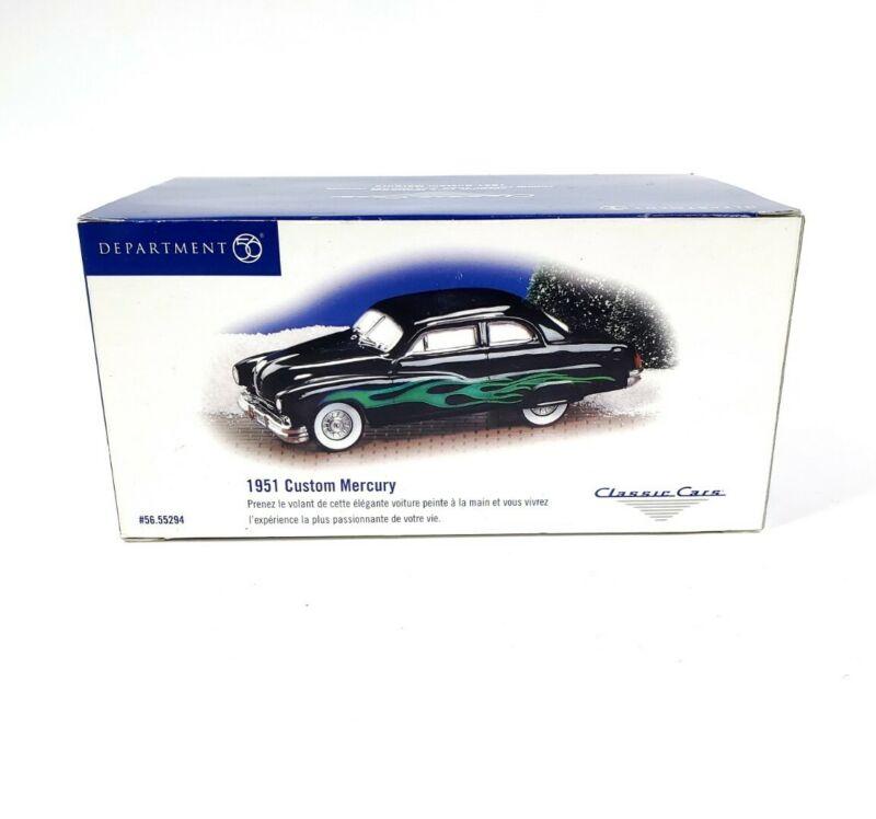 Dept 56  Snow Village Classic Cars 1951 Custom Mercury 55294 Retired