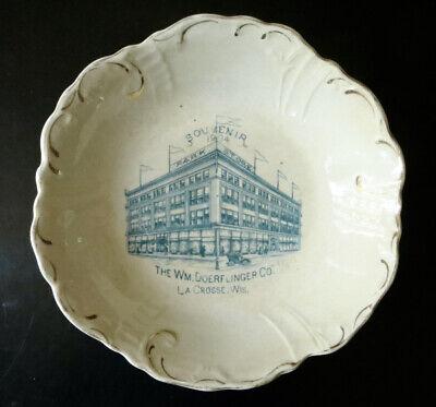 1904 Souvenir Advertising Bowl for Doerflinger Store in La Crosse, Wisconsin