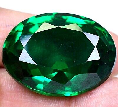AAA Colombian 66.40 Ct Natural Green Emerald Oval Loose Gemstone Certified F3903