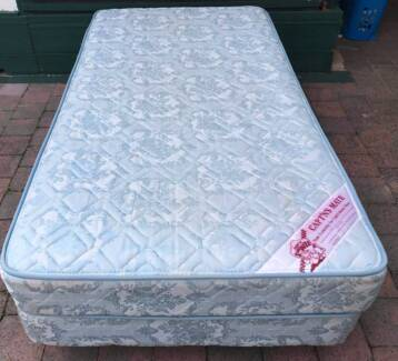 Comfortable King Single bed base with mattress for sale. Delivery