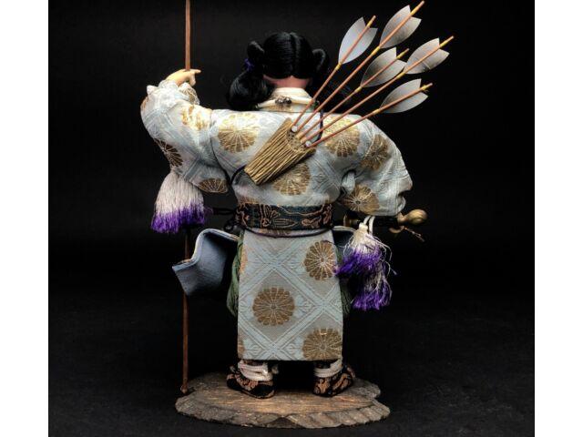33cm Antique MUSHA NINGYO Japanese Doll JIMMU TENNO Emperor SAMURAI