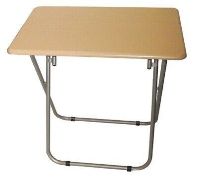 Small Folding Wooden TV Table Side Fold Computer Desk Table Dinner Tea...