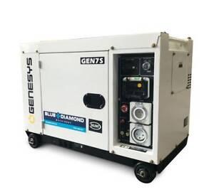 Portable Generator - Diesel 6.5KVA Canopy 240V - 2 Years Warranty Kewdale Belmont Area Preview