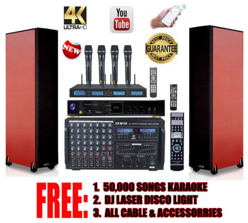 BVB Complete Professional DJ/KJ 3000W Karaoke System with FREE: 60,000 Songs