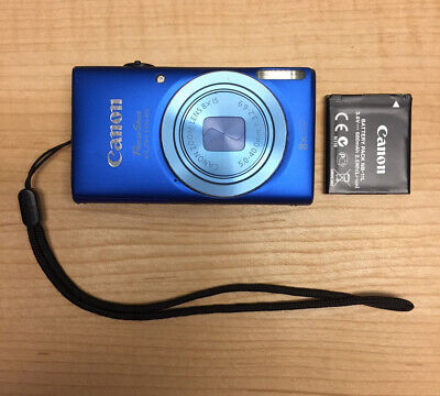 Canon Powershot ELPH 115 IS 16.0 MP Camera Blue Tested Working