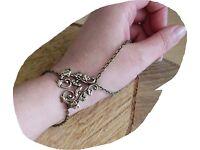 Vintage steampunk Mystic mystisch Drachen armreif bracelet gothic armband elfen