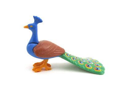 PLAYMOBIL~Peacock~Closed Feathers~Bird~Zoo~Princess~Tropical~Rare