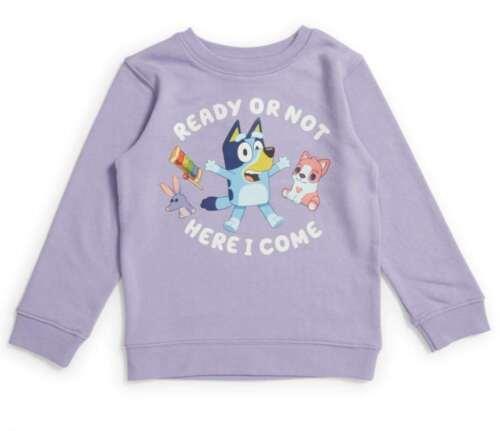 NWT Size 3 Bluey Girls Terry Sweater crew top