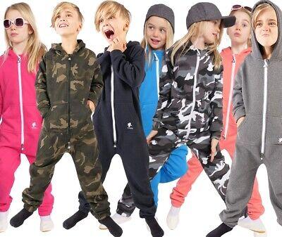opoppy Kinder-Jumpsuit Overall für Jungen Mädchen Einteiler Onesie Jogging-Anzug