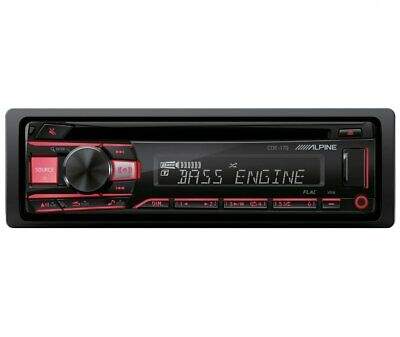 Alpine CDE-170, Single-DIN CD Car Stereo w/ USB & Auxiliary Input