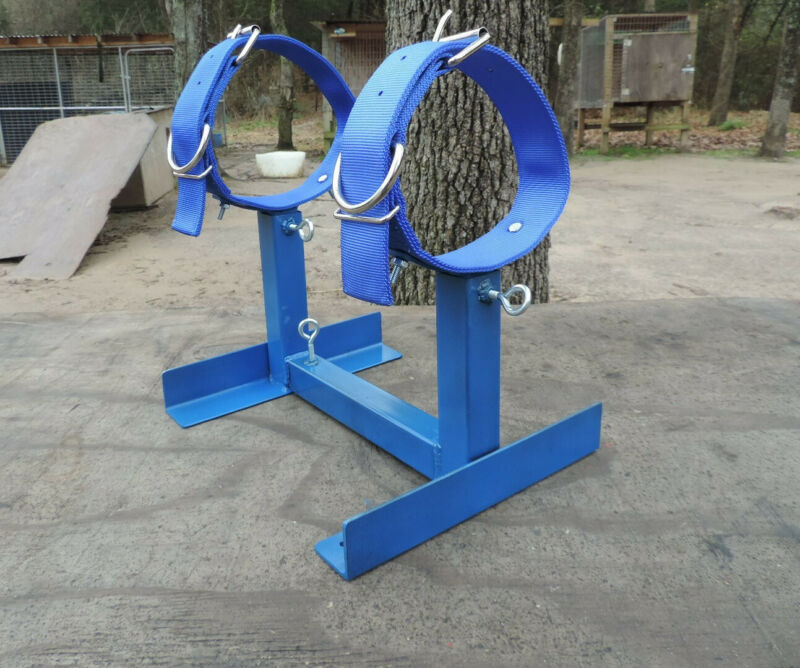 FULLY ADJUSTABLE GROOMING / BREEDING STAND W COLLARS!