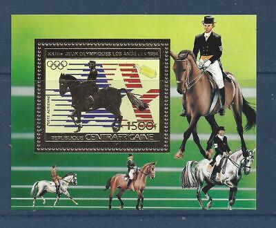 CENTRAL AFRICA - 605B S/S - MNH - 1983 - DRESSAGE - LOS ANGELES OLYMPIC GAMES