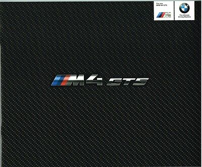 BMW M4 GTS Prospekt, 2015, 20 Seiten !!!  Top-Rarität