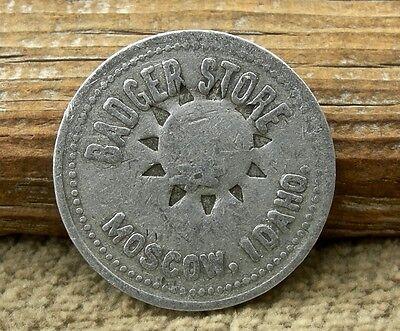 Ca 1900 Moscow Idaho Id  Washington   Latah Co  25C  Badger Store  Stamped Token