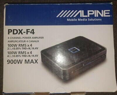 Alpine PDX-F4 - 4 Channel Class D Digital Car Amp Amplifier 4/3/2...