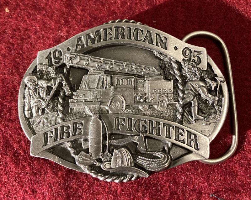 Vintage Limited American Fire Fighter Belt Buckle - 1995 Siskiyou Buckle Co