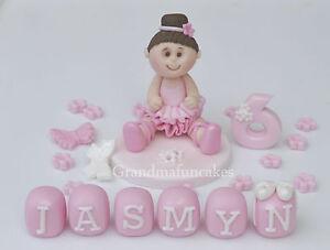 edible ballerina dancer.tutu,girl,cake topper decoration.birthday,age name block