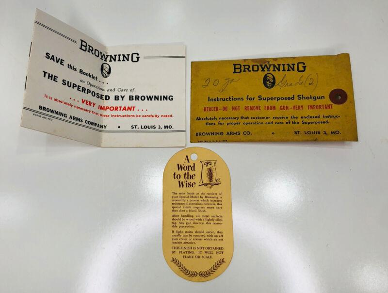 Browning Superposed Shotgun Owner