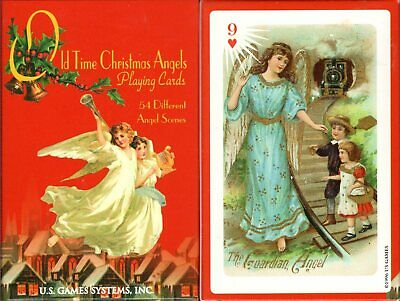 Old Time Christmas Angels Playing Cards Game Bridge Size Deck USGS Custom New