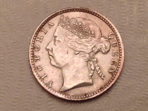- 1897 Straits Settlements Victoria Ten 10 Cents Silver