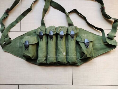 Surplus Original Chinese Type 85 Chest Rig Ammo Pouch Mag Pouch Marked 1987