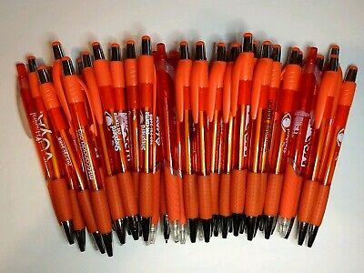40 Piece Misprint Lot Translucent Neon Orange Retractable Pens Wgrip Free Ship