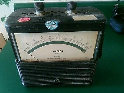 Vintage Weston Model 901 Meter Amperes D.c. 102550 Ranges
