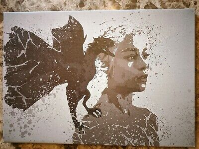 Game of Thrones Daenerys Targaryen iCanvas Handcrafted Printed Canvas 26x18 in.