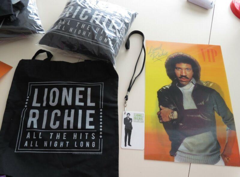 Lionel Richie Concert Merchandise - Pillow, Lanyard, Tote Bag, Hologram Poster