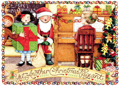 Mary Engelbreit-YET ANOTHER CHRISTMAS PAGEANT-Sunrise Vintage Christmas Card