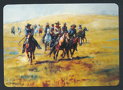 CM Russell The Range Riders cowboy playing card single swap ace clubs - 1 card